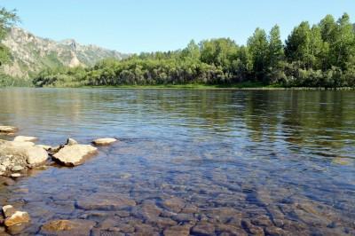 Река Белый Июс Хакасия