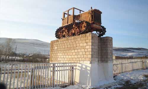 Памятник покорителям целины, с.Джерим
